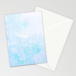 Modern Sky Retro Flower Dandelion Stationery Cards