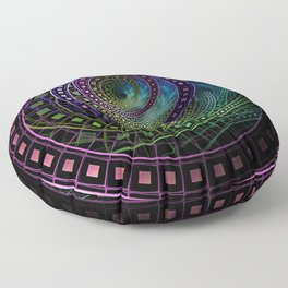 The Fractal Technicolor Rainbow of Oz the Great and Powerful Floor Pillow