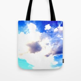 Blue Skies Will Never Fade Tote Bag