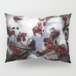 Snowy Flowering Crab Berries Pillow Sham