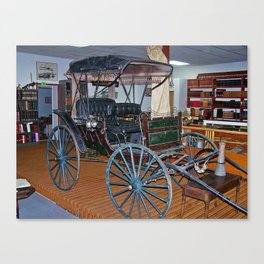 Antique Carriage in museum Canvas Print
