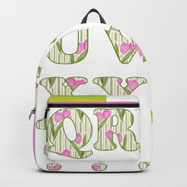 Children's alphabet for the twins . A colorful pattern for children . 2 Backpack