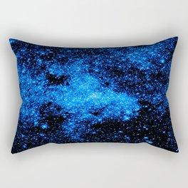 gALAXy Midnight Blue Stars Rectangular Pillow