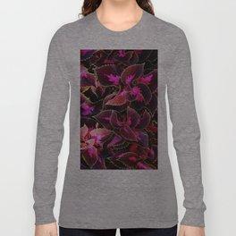 Intricate Coleus Design Long Sleeve T-shirt