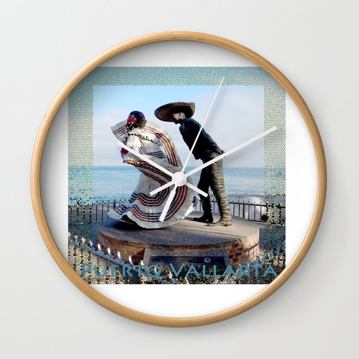 Puerto Vallarta, Mexico Sculpture by the Sea Wall Clock