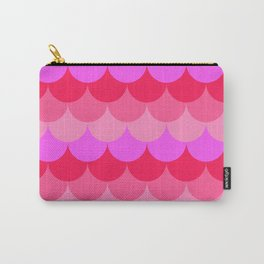 Scalloped Confetti in Neon Coral Reef Carry-All Pouch