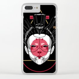 Ghost in the Geisha Clear iPhone Case