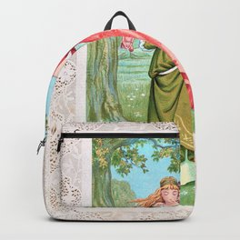 Kate Greenaway - Valentine 1876 - Digital Remastered Edition Backpack