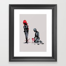Elastic Heart Framed Art Print