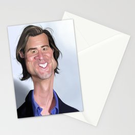 Jim Carrey Caricature art Stationery Cards