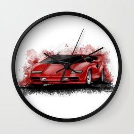 1985 Lamborghini Countach Wall Clock