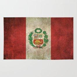 Old and Worn Distressed Vintage Flag of Peru Rug
