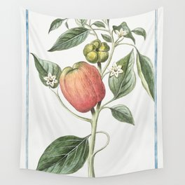 Capsicum fructu subrotundo ventricoso dulci in summitate tetragono Peperoni di Spagna grandi e dolci Wall Tapestry