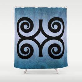 Dwennimmɛn - Adinkra Art Poster Shower Curtain