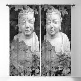 Buddha black and white photo, photographed village in Oberaudorf (Bavaria), 2013 Blackout Curtain