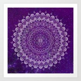Purple Mandala Art Print