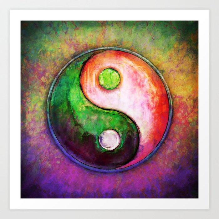 Super Yin Yang - Colorful Painting VIII Art Print by dirkczarnota   Society6 HW99
