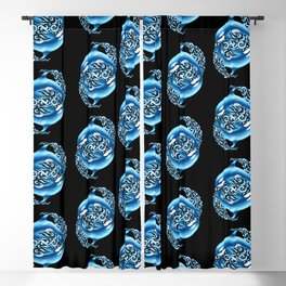 Orca Pattern Blackout Curtain