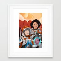 broad city Framed Art Prints featuring Broad City by Chris Danger