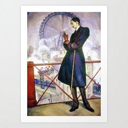 Portrait Of Adolfo Best Maugard - Diego Rivera Art Print