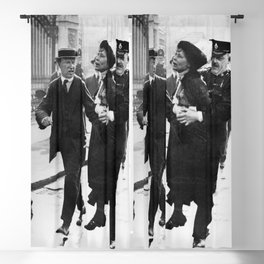 Suffragette Emmeline Pankhurst Being Arrested (May 1914) Blackout Curtain