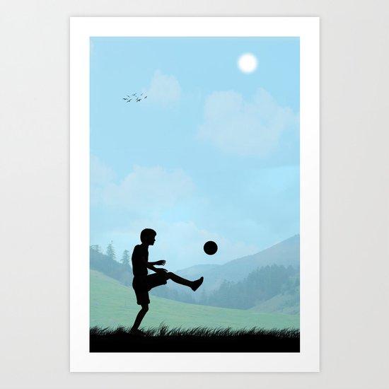 Childhood Dreams, Soccer Art Print