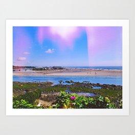 daydream in blue Art Print