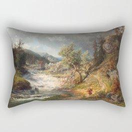 Alfred Wahlberg (1834-1906) 1866 · Summer Landscape Rectangular Pillow