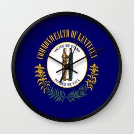 flag of kentucky-america,usa,midwest,Bluegrass,  Hemp State,Kentuckian,Louisville,lexington,richmond Wall Clock