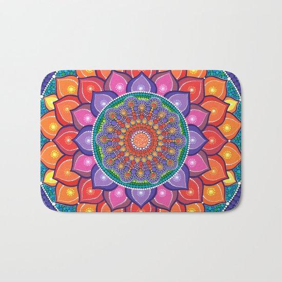 Lotus Rainbow Mandala Bath Mat