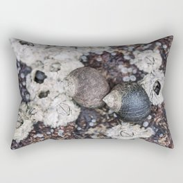 Periwinkles and Barnacles on a rock Rectangular Pillow