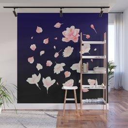 Dance among the cherry blossom Wall Mural