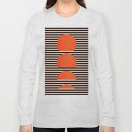 Abstraction_SUNSET_LINE_ART_Minimalism_001 Long Sleeve T-shirt