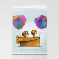 nursery Stationery Cards featuring UP Pixar — Love is the greatest adventure  by Ciara Panacchia