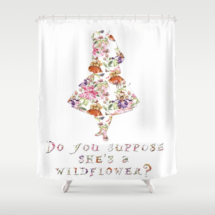 Do You Suppose Shes A Wildflower Shower Curtain By Peggieprints