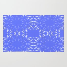 Periwinkle Blue Color Burst Rug