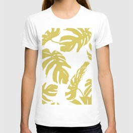 Simply Mod Yellow Palm Leaves T-shirt