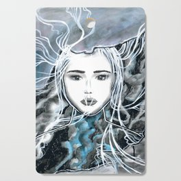 Girl Portrait Drawing Cutting Board