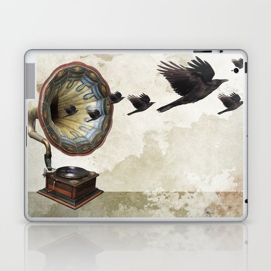 the sound of crows Laptop & iPad Skin