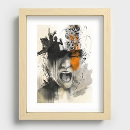 Trapped Recessed Framed Print