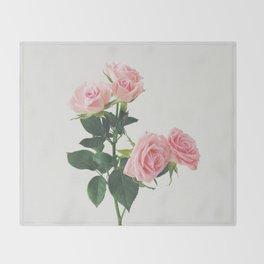 Spring Roses Throw Blanket