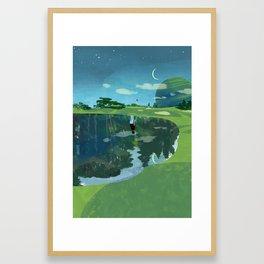 Golf Forest Framed Art Print