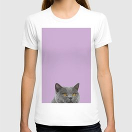 Lavender Home Decor Lilac Decoration British Short haired Cat Bag Pastel Colors T-shirt