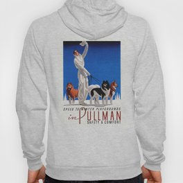 1935 Pullman Speed To Winter Playgrounds Train Travel Poster Hoody