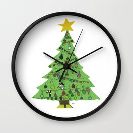 2015 Christmas Tree Wall Clock