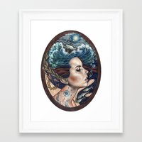 lost Framed Art Prints featuring Lost At Sea by Wendy Ortiz