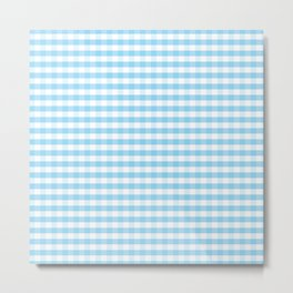 Blue and white plaids Metal Print