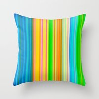 stripe Throw Pillows featuring stripe by AmeliaPeelArt