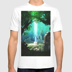link MEDIUM Mens Fitted Tee White