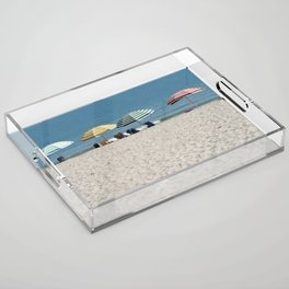 Bald Head Island Beach Umbrellas | Bald Head Island, North Carolina Acrylic Tray